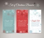 Ensemble de Noël/de nouvelle année de bannières de verticale Photos libres de droits