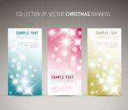 Ensemble de Noël de vecteur/de nouvelle année de bannières de verticale Photographie stock libre de droits