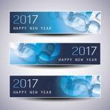 Ensemble de Noël horizontal, bannières de nouvelle année - 2017 Images stock