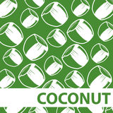 Ensemble de noix de coco Juice Background Vector Photos stock