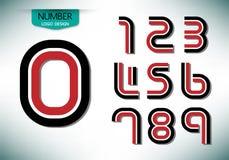 Ensemble de nombre abstrait de conception de couleur de ton du vecteur deux de logo Images libres de droits