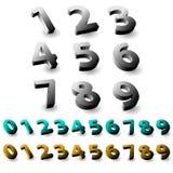 Ensemble de nombres 3d Photos libres de droits