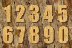 Ensemble de nombres en bois Photo libre de droits