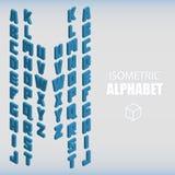 Ensemble de nombres isométriques bleus Photo libre de droits