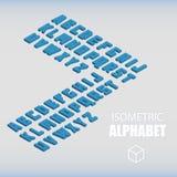 Ensemble de nombres isométriques bleus Photo stock