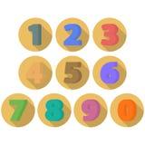Ensemble de nombres plats Image libre de droits