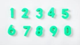 Ensemble de nombres verts Image stock