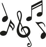 Ensemble de notes de musique illustration de vecteur