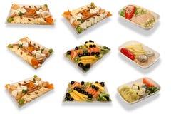 Ensemble de nourriture images stock