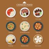 Ensemble de nourriture chinoise illustration de vecteur