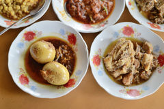 Ensemble de nourriture de Myanmar Photographie stock libre de droits