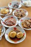 Ensemble de nourriture de Myanmar Images stock