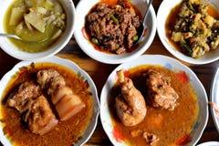 Ensemble de nourriture de Myanmar Photographie stock