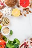 Ensemble de nourriture saine organique image stock