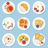 Ensemble de nourriture saine pour le petit déjeuner illustration de vecteur