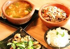 Ensemble de nourriture thaïe Images stock