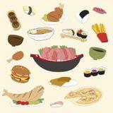 Ensemble de nourritures Photo libre de droits