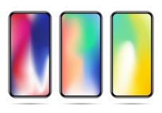 Ensemble de nouveaux calibres de smartphone avec des gradients colorés Illustration de Vecteur