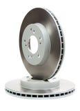 Ensemble de nouveaux disques de frein pour la voiture Photo stock