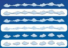 Ensemble de nuages mignons Illustration de vecteur Photos libres de droits