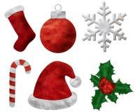 Ensemble de pâte à modeler de Noël Images libres de droits