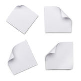 Ensemble de pages de papier blanches blanches pour la correspondance Photos libres de droits