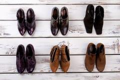 Ensemble de paires de chaussures du ` s de femmes Photo stock