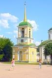 Ensemble de palais et de parc de Mironov Dikushin d'architectes d'August Belfry 1792 de comptes Kuskovo Sheremetiev images stock