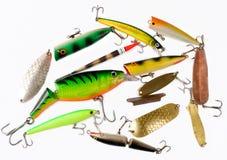Ensemble de palans de pêche Photo libre de droits