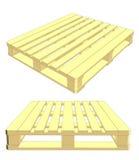 Ensemble de palette en bois D'isolement sur le blanc Vecteur Photos stock