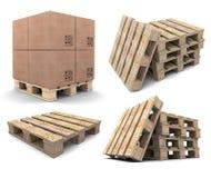 Ensemble de palettes en bois. Photos stock