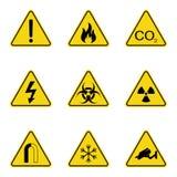 Ensemble de panneaux d'avertissement de triangle Icône d'avertissement de roadsign signe de Danger-avertissement-attention Fond j illustration libre de droits