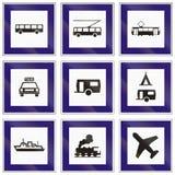 Ensemble de panneaux routiers français de l'information Images libres de droits