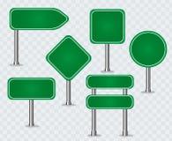 Ensemble de panneaux routiers verts illustration libre de droits