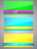 Ensemble de papier coloré avec la bande. Photos libres de droits