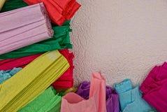 Ensemble de papier coloré sur le fond blanc photos stock