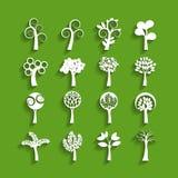 Ensemble de papier d'icône d'arbre, vecteur eps10 Photo stock