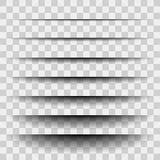 Ensemble de papier réaliste transparent d'effet d'ombre Drapeau de Web Élément pour faire de la publicité et message promotionnel illustration de vecteur