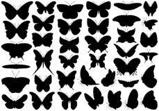 Ensemble de papillon illustration de vecteur