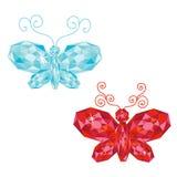 Ensemble de papillons de gemme Photographie stock