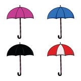 Ensemble de parapluie Photographie stock libre de droits