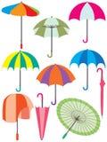 Ensemble de parapluie illustration de vecteur