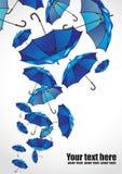 Ensemble de parapluies sur le blanc Photos stock