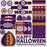 Ensemble de partie de Halloween Image stock