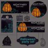 Ensemble de partie de Halloween Images libres de droits