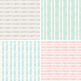 Ensemble de patern géométrique sans couture Image stock