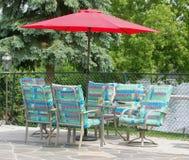 Ensemble de patio d'été Image stock