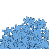 Ensemble de Pazzle bleu Modèle denteux illustration stock
