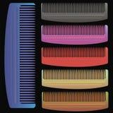 Ensemble de peignes colorés Photographie stock