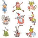 Ensemble de personnages de dessin animé Image stock